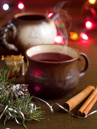 Mulled wine in cup, selective focus Stock Photo - 11554357