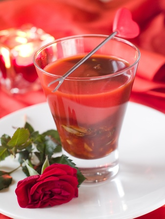 BloodY Mary or tomato juice with oyster, selective focus Stock Photo - 11766773