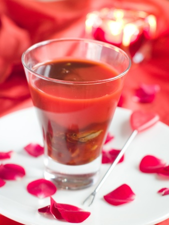 BloodY Mary or tomato juice with oyster, selective focus Stock Photo - 11766818