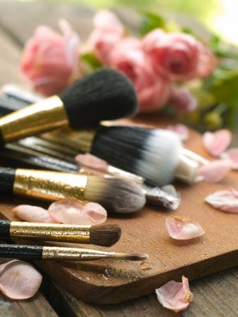 fashon: Fashon brushes for make-up, selective focus Stock Photo