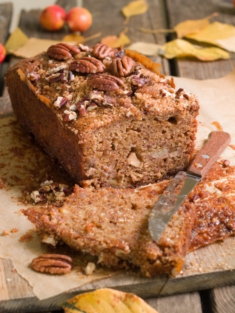 pecan: Nuts  and honey cake, selective focus Stock Photo