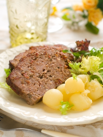 Meatloaf with spice for dinner, selective focus Stock Photo - 17331085