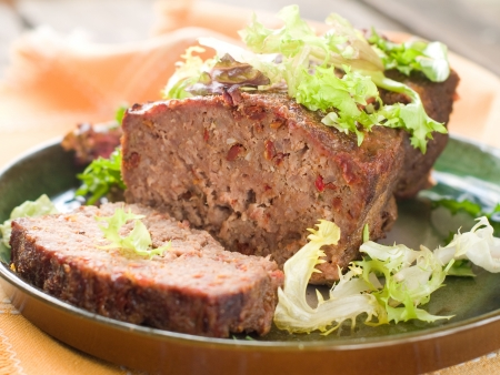 Meatloaf with spice for dinner, selective focus Stock Photo - 17331118