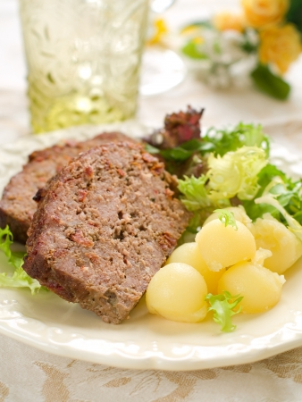 Meatloaf with spice for dinner, selective focus Stock Photo - 17379022