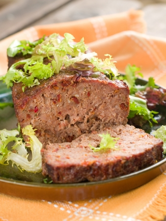 Meatloaf with spice for dinner, selective focus Stock Photo