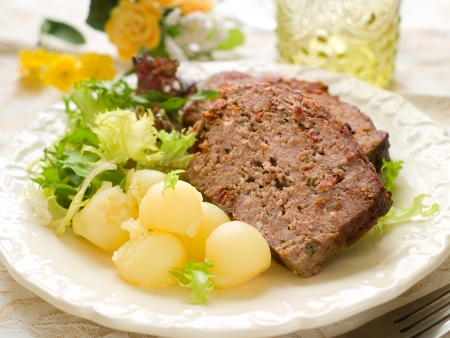 Meatloaf with spice for dinner, selective focus Stock Photo - 17379028