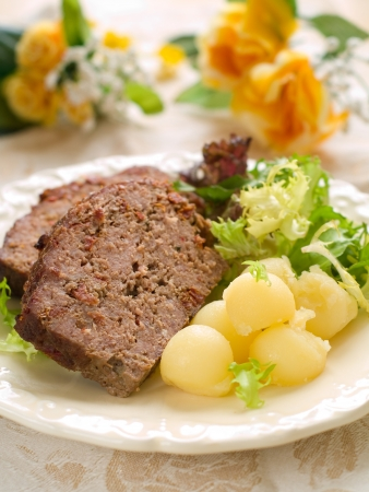 Meatloaf with spice for dinner, selective focus Stock Photo - 17741767