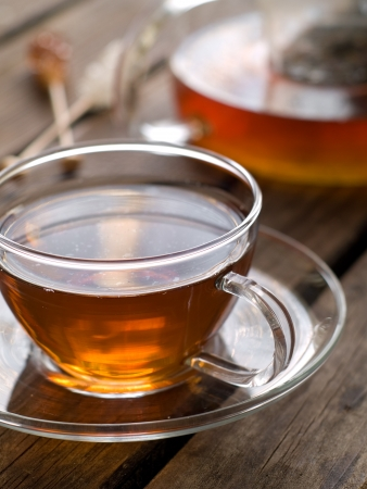 A cup of black tea, selective focus Stock Photo - 17741737
