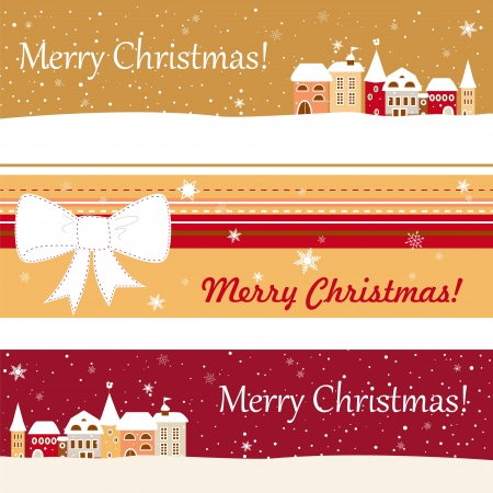 baner: Set of three baner for christmas for your website, vector EPS10
