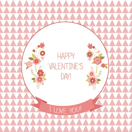 Greeting Valentine, s day card, illustration Vector
