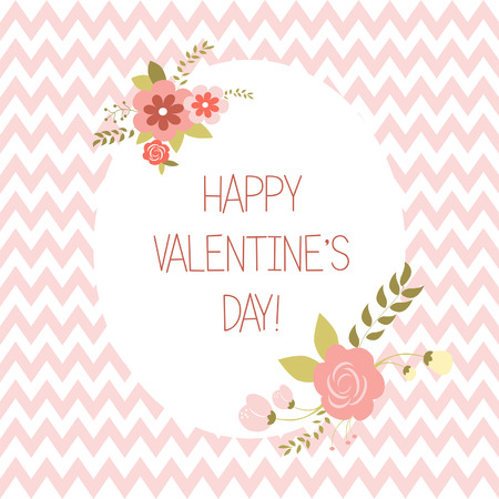 Greeting Valentine,s day card, illustration Vector