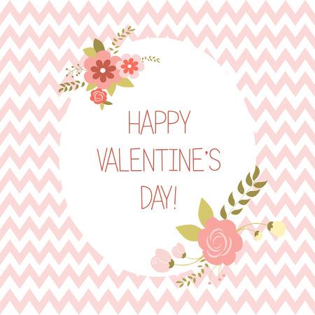 Greeting Valentine,s day card, illustration Vector