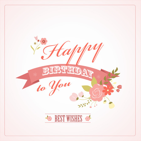 Greeting Birthdays day card, illustration Vector