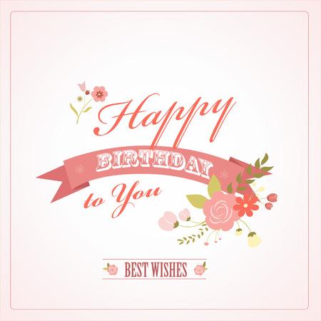 Greeting Birthdays day card, illustration Vector