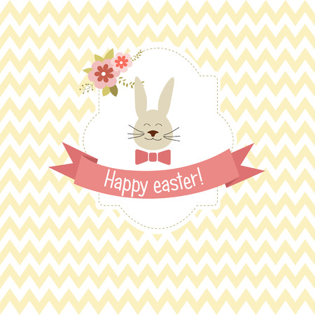 aniversary: Greeting easter day card,  vector