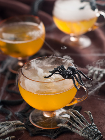 Halloween drink for party, selective focus photo