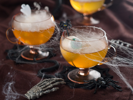 Halloween drink for party, selective focus  Stock Photo