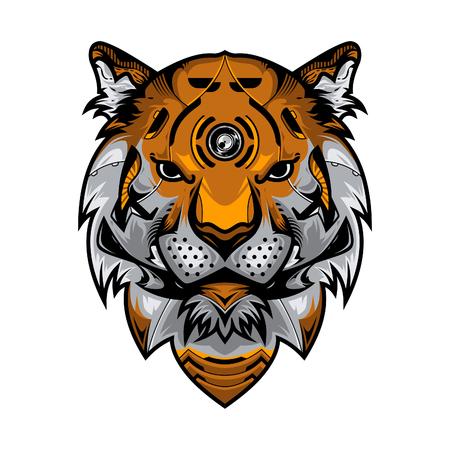 Perfect Tiger Head Vector Illustration in White Background Standard-Bild - 113771774