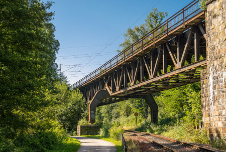 old times: Railway bridge of the Old Times