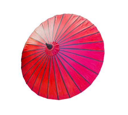 red umbrella: red umbrella isolated on white background