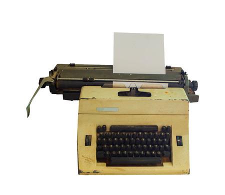 54498826 - Máquina de escribir con una hoja de papel. Aislado en fondo  blanco con trazado de recorte 0be841ca7b8e