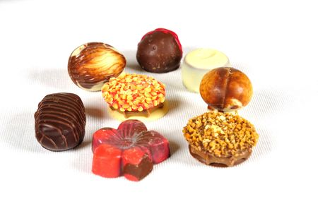 assortiment chocolate pralines