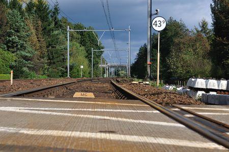 railroad, illustrative of industrys path to the future Stock Photo