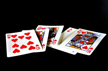 winning hand with a royal flush