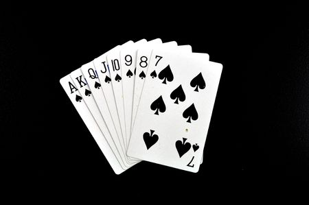 street of spades isolated on a black background Stock Photo