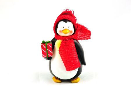 Christmas penquin isolated on a white background Stock Photo
