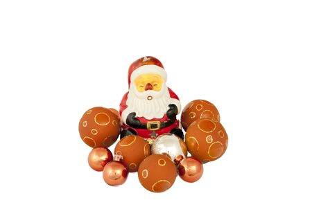 Santa claus isolated on a white background Stock Photo