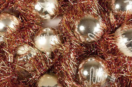 d�coration de No�l avec des balles  Banque d'images