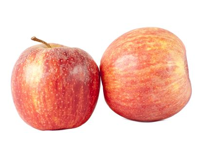 pair apples isolated on a white background