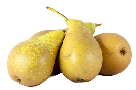 pears isolated on a white background photo