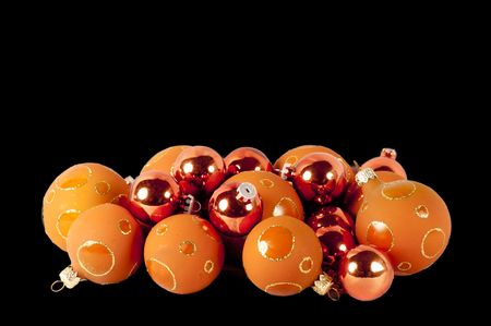 close up of christmas balls isolated on a black background Stock Photo - 8152832