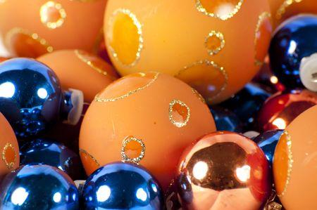 close up of christmas balls