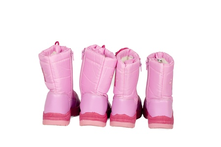 isolated pink snow boots Stock Photo - 8362557