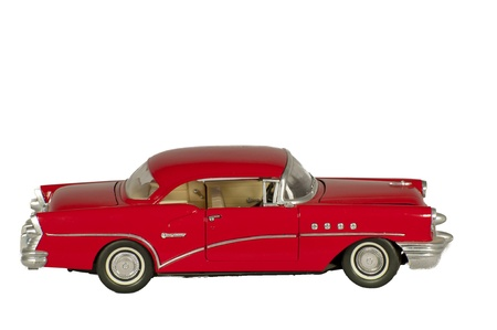 isolated red classic car Stock Photo