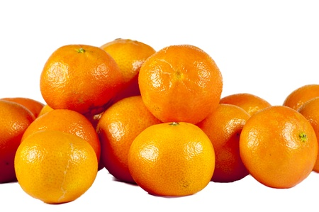 tangerines isolated on a white background