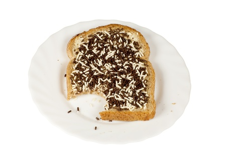 slice of bread with sprinkles
