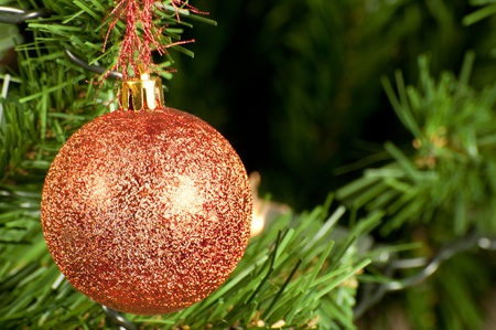 close up of christmas ball photo