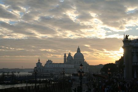 Basilica S. Maria d. Salute in Venice, Italy. Sunset. Stock Photo - 4810560
