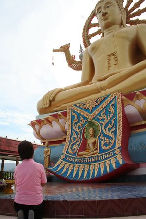 Sculpture of Buddha in Thailand Stock Photo