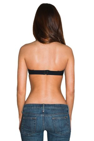 This is a shot of a girl from the back side