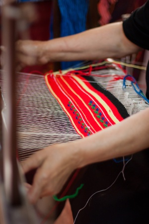 The process of weaving Stock Photo