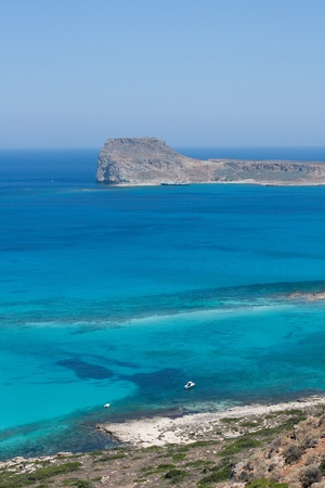 Picture of a beautiful lagoon with blue clear water