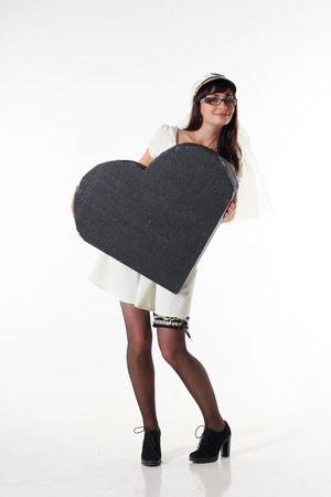 Picture of a girl holding big heart