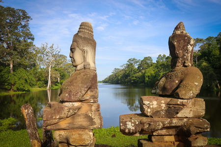 Picture of giant faces in Angkor Wat, Cambodia