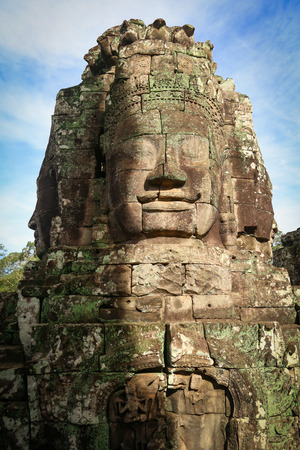 Picture of giant faces in Bayon Temple in Angkor Wat, Cambodia