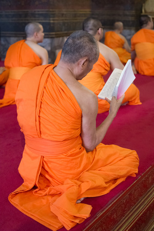 Picture of Monks praying in the temple
